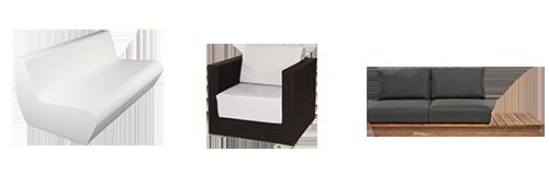 Vermietung : Loungemöbel und Sofas
