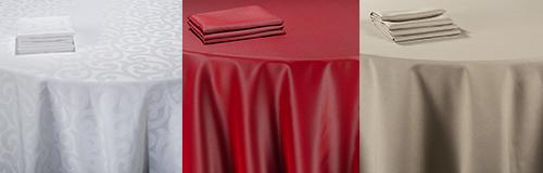 Vermietung : Tischtücher und Servietten