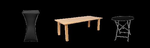 Vermietung : Tische und Klappstehtische