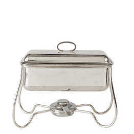 Chafing-Dish Silber L 30 B 15 H 27 cm mit Brenner