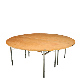 Tisch rund Ø 200 cm feuerschutzbehandelt