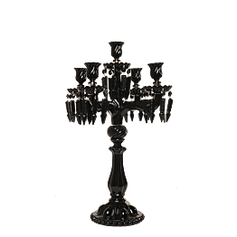 Kerzenleuchter Pampille 5-armig schwarz