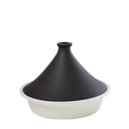 Tajine schwarz und weiss Ø 32 cm 300 cl