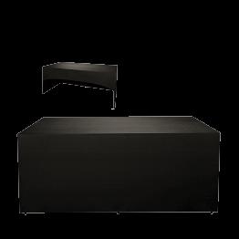 Buffet klappbar mit schwarzer Husse 3 Seiten abgedeckt 100x200cm