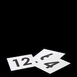 Tischnummer viereckig plastifiziert Set 1 bis 50