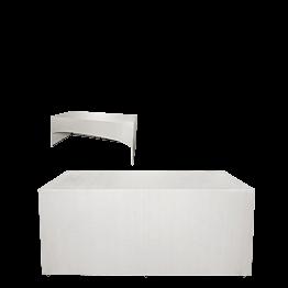 Buffet klappbar mit weisser Husse 3 Seiten abgedeckt 80 x 200 cm