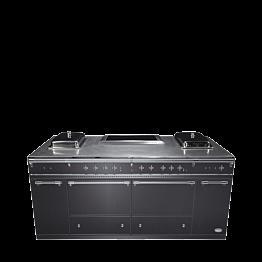 Buffet klappbar Gastro-Look 100 x 200cm Herdplatte Vitro-Kermamik