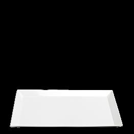 Porzellanteller weiss 48 x 32 cm H 2,7 cm