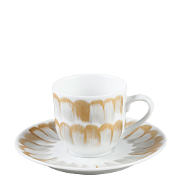 Espresso- Ober- & Untertasse Plumes 12 cl