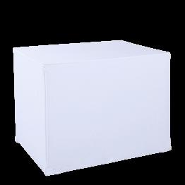 Serviertisch faltbar houssiert weiss Husse 90 x 70 cm H 72 cm