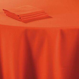 Tischläufer Leinen korallenrot 50 x 270 cm