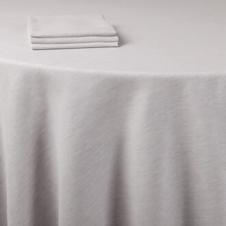 Tischläufer Leinen grau 50 x 270 cm