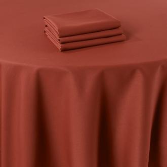 Tischläufer Marjorie terrakotta 50 x 270 cm feuerfest