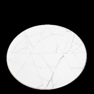 Platzteller Marmor mit Goldrand Ø 33 cm