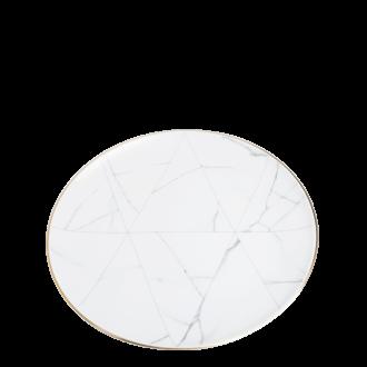 Menüteller Marmor mit Goldrand Ø 28 cm