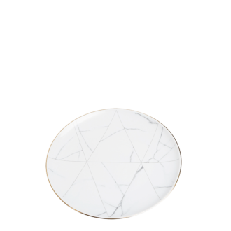 Dessertteller Marmor mit Goldrand Ø 22 cm