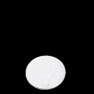Brotteller Marmor mit Goldrand Ø 16 cm