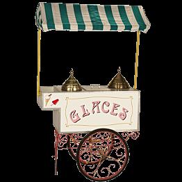Eiswagen dekorativ L 75 ; P 128 ; H 213 cm