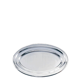 Platte oval Silber 40 x 60 cm
