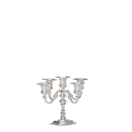 Kerzenleuchter 5-armig Silber H 25 cm