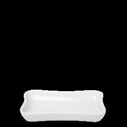 Aschenbecher Porzellan weiss 7 x 10 cm