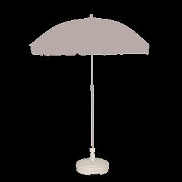 Standfuss für Sonnenschirm weiss Plastik Ø 43 cm