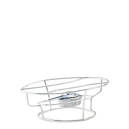 Platten-Brenner Silber L 35 H 12 P 25 cm