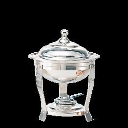 Chafing-Dish Silber rund H 36 cm Ø 27 cm