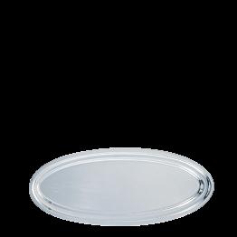 Platte oval Silber 30 x 70 cm