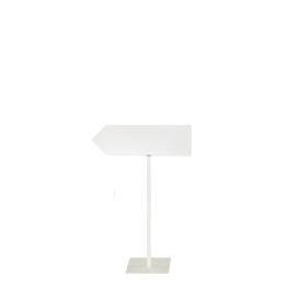 Wegweiser mit Fuss (links) H 100 (regulierbar) Pfeil 69 x 20 cm