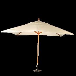 Sonnenschirm Louisiane beige 300 x 300 cm + Stahlsocke 30 x 30 cm