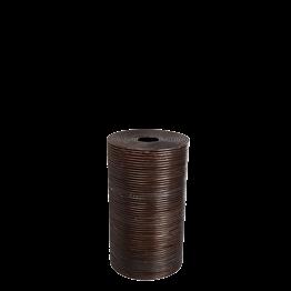 Abfallkorb aus Weide mit Deckel H 60 cm Ø 35 cm
