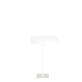 Wegweiser mit Fuß (rechts) H 100cm (regulierbar 150 cm)