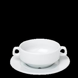 Suppen-Ober- & Untertasse weiss Ø 11cm H 6,5 cm 26 cl