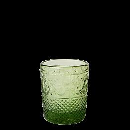 Tischlicht Barock olivgrün Ø 5 cm H 6,5 cm