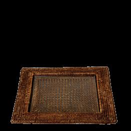 Platte Louisiane 40 x 40 cm mit Glaseinsatz 25 x 25 cm