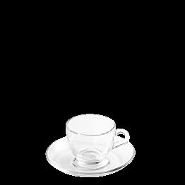 Espresso-Ober- & Untertasse Vague 7 cl