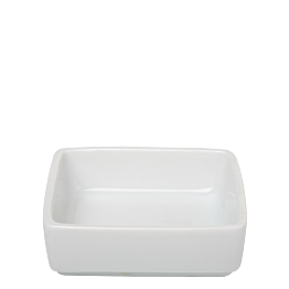 Mini-Platte quadratisch weiss 6,5 x 6,5 cm H 3 cm 4 cl