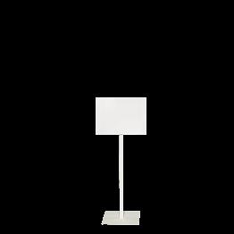 Tafel mit Fuss weiss Format 30 x 40 cm H 90 bis 150 cm