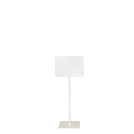 Tafel mit Fuss weiss Format 30 x 40 cm