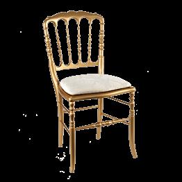 Stuhl Napoleon III gold  Gala weiss