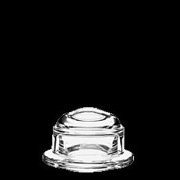 Butterplatte mit Deckel aus Glas Ø ext 10 cm Ø int 5,5 cm H 6 cm