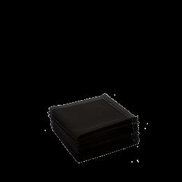 Stoffservietten 2-faltig schwarz 20 x 20 cm (30 Stück)