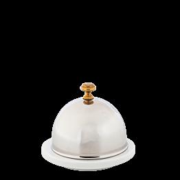 Porzellanbutterdose mit Edelstahldeckel Ø 9 cm H 8 cm