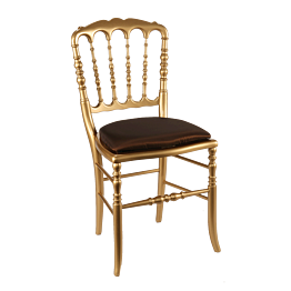 Stuhl Napoleon III gold Toscana schokolade