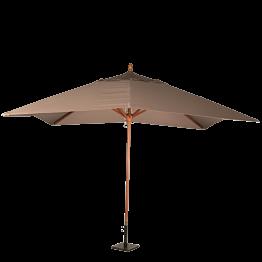 Sonnenschirm Louisiane taupe 300 x 300 cm + Stahlsockel 30 x 30cm