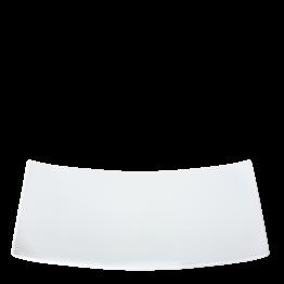 Porzellanplatte rechteckig weiss 20 x 35 cm