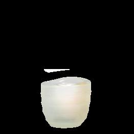 Tischlicht Capri weiss Ø int 5 cm Ø ext 6,5 cm H 6 cm
