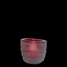 Tischlicht Capri rubis Ø int 5 cm Ø ext 6,5 cm H 6 cm
