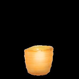 Tischlicht Capri bernstein Ø int 5 cm Ø ext 6,5 cm H 6 cm